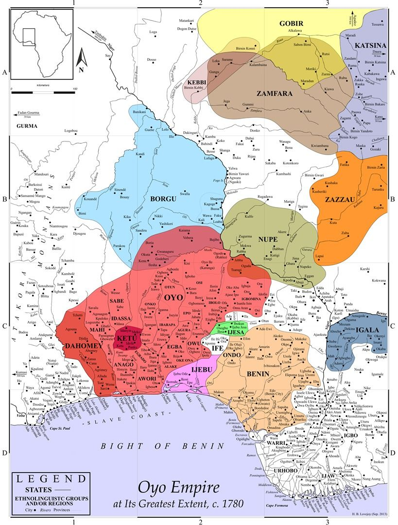 Oyo Empire Map Old world maps, Kebbi