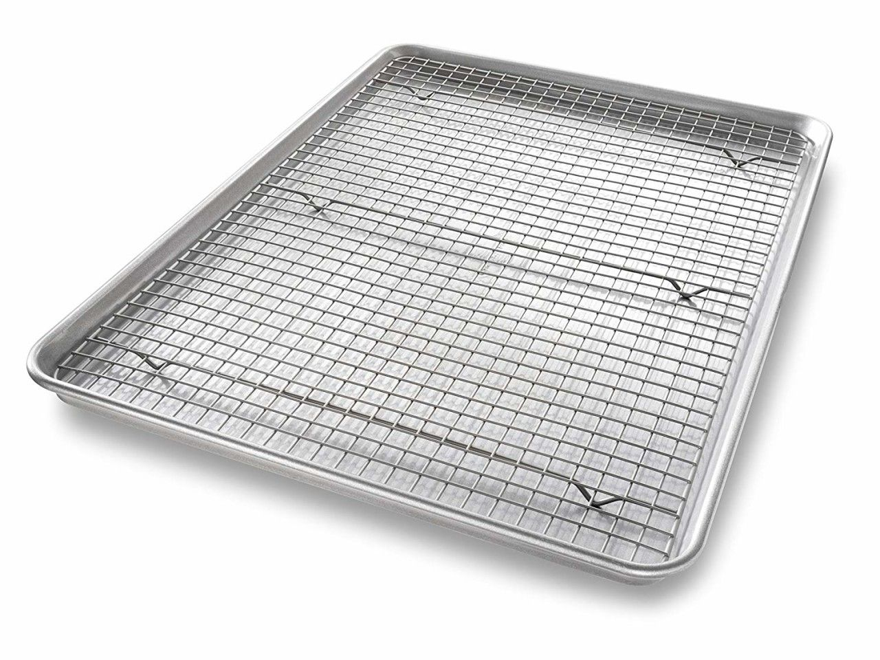 Extra Large Sheet Baking Pan And Bakeable Nonstick Cooling Rack