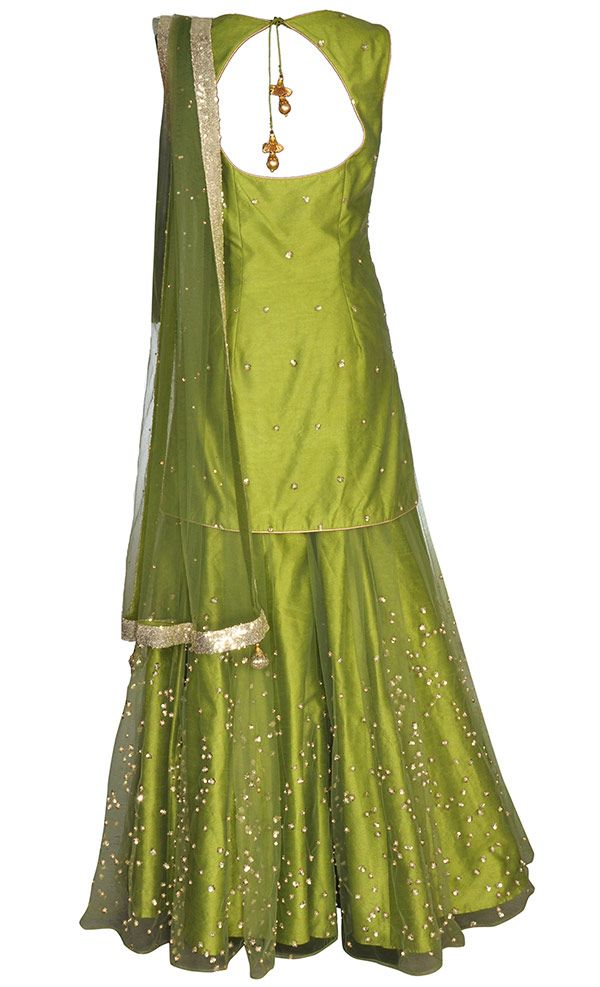 Mehndi Green Sharara Set #shararadesigns