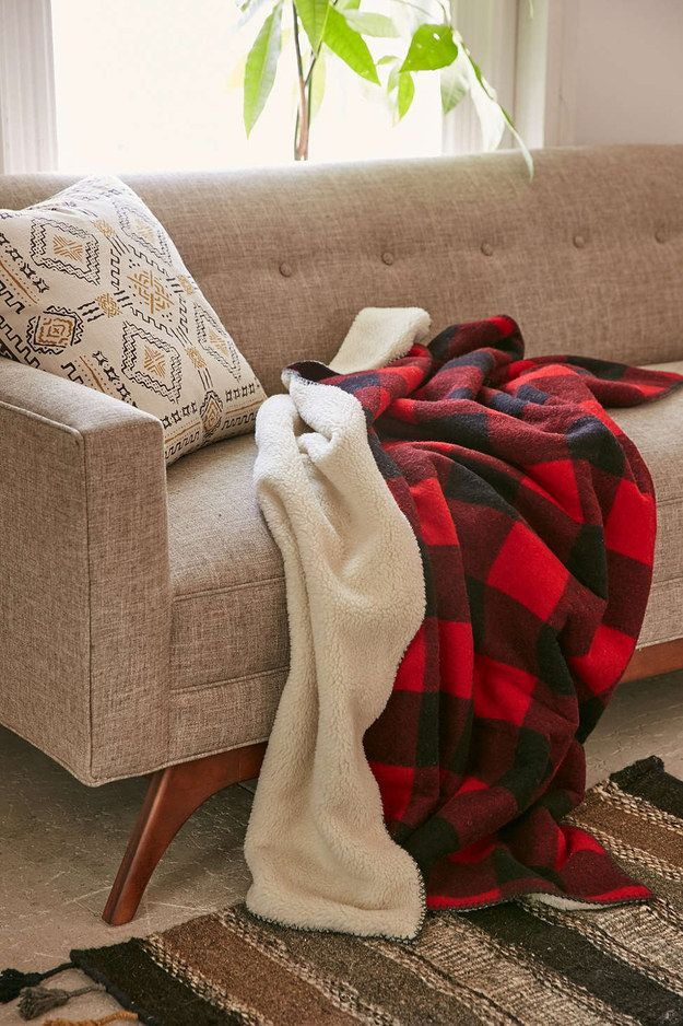 6941724e61 This sherpa lined flannel blanket will always be there for you. Blanket  Forts