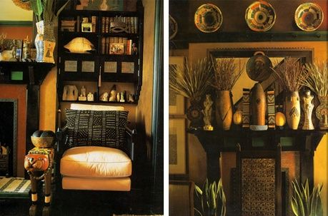 Classic AfricanInspired Interior Interiors Ranges and Living rooms