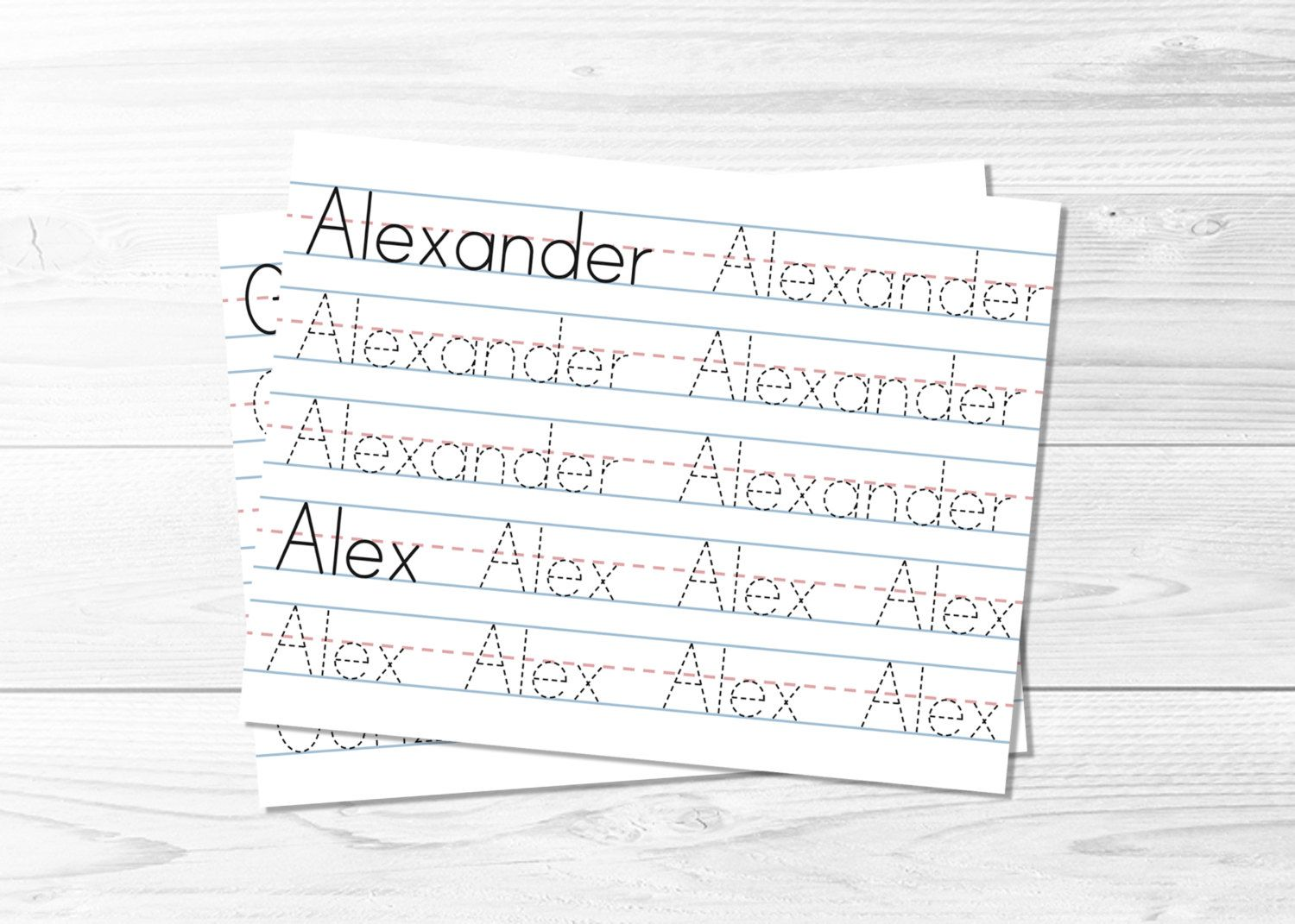 Name Tracing Pages Learn To Write Tracing Sheets Lined Etsy Learning To Write Printable Name Tracing Name Tracing [ 1071 x 1500 Pixel ]