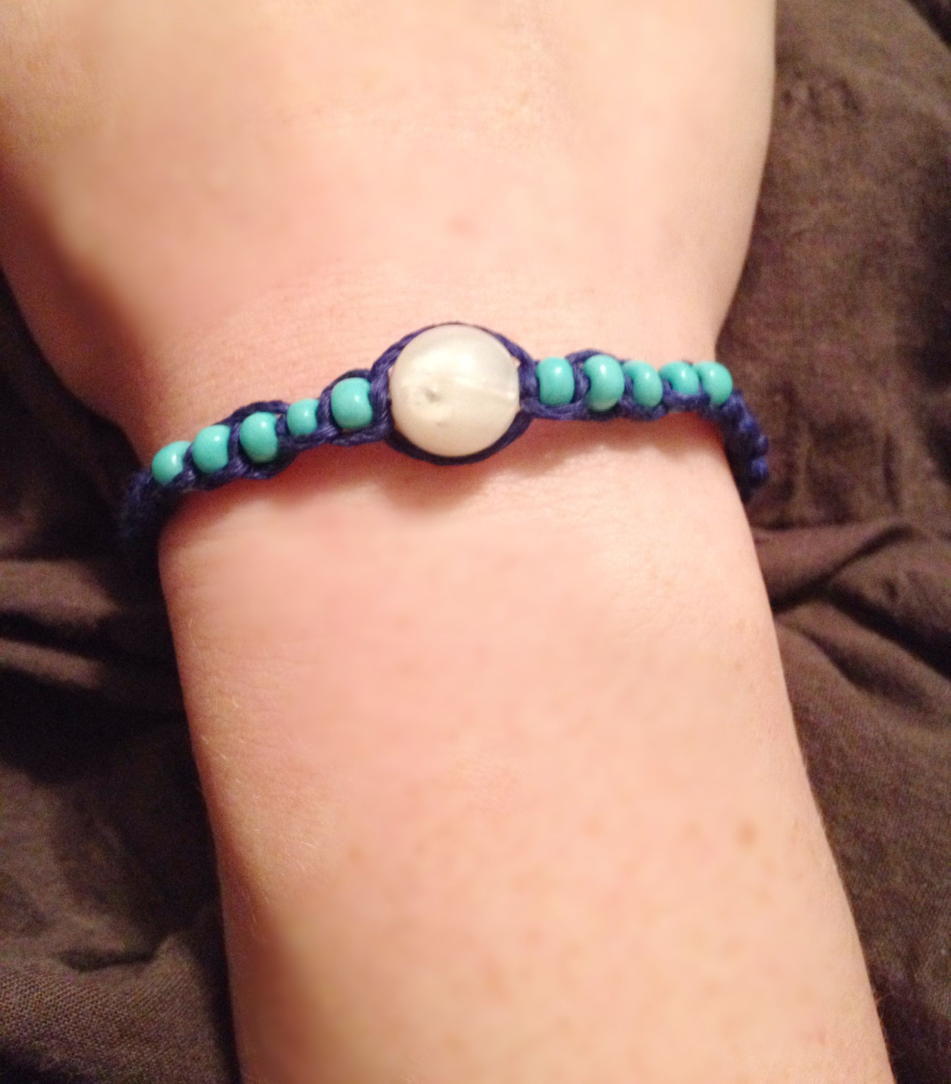 The bracelet project. Blue for depression, teal for anxiety, and white for recovery. Mental health awareness.