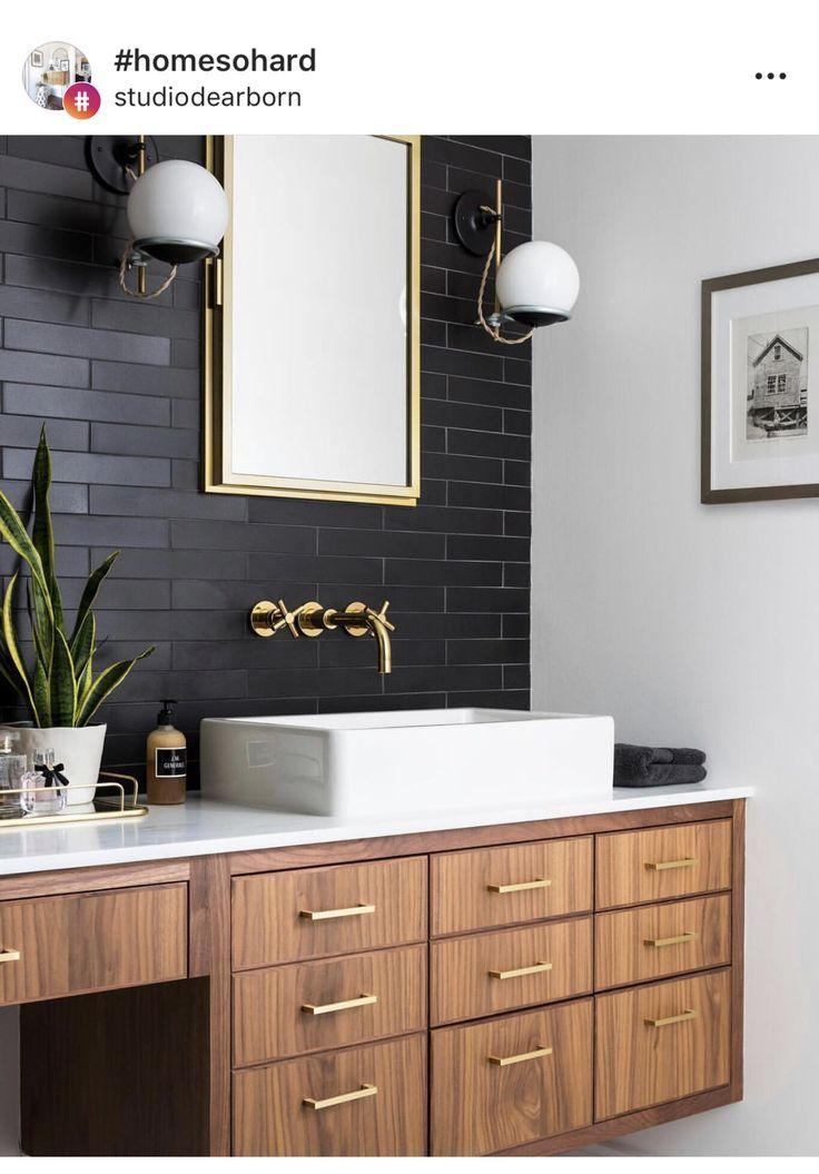 Photo of Bath. Black wall. Unique bathroom ideas.