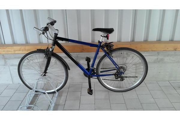 Fahrrad Crossbike Trekkingrad Blau Schwarz 26 Zoll