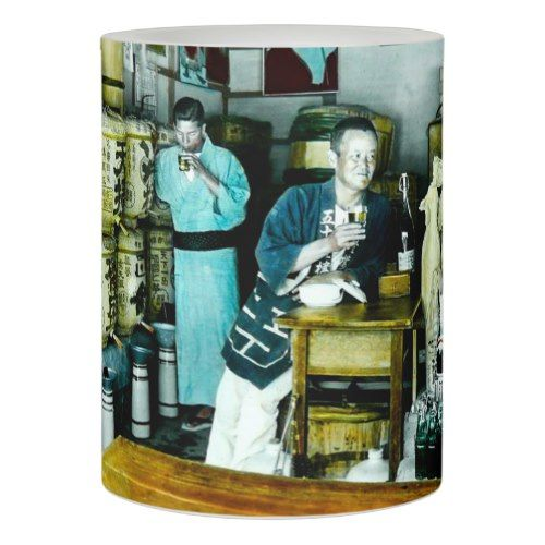 The Sake Merchants of Old Japan Vintage Hand Tint Flameless Candle
