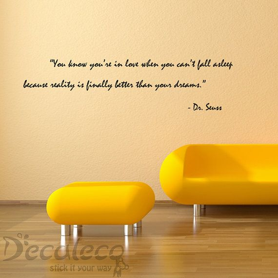 Love and Dreams Vinyl wall quote from Dr Seuss by Decaleco on Etsy ...