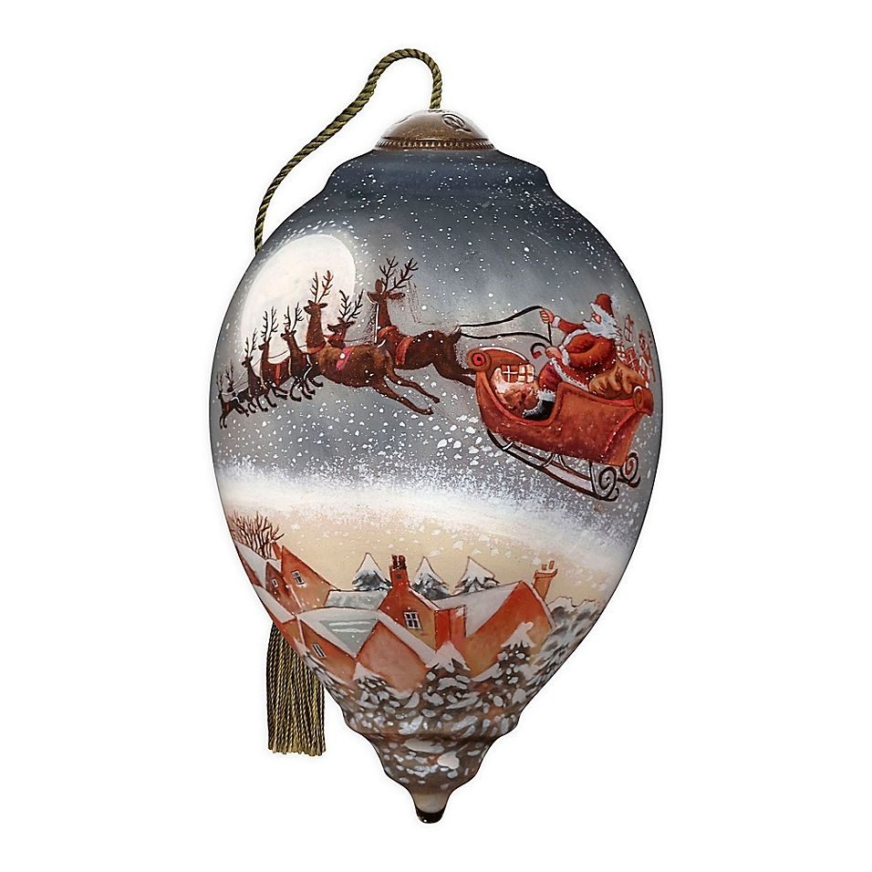 Ne Qwa Art Up Up And Away Santa Claus 5 5 Hand Painted Ornament Multi Painted Christmas Ornaments Christmas Ornaments Unique Christmas Decorations