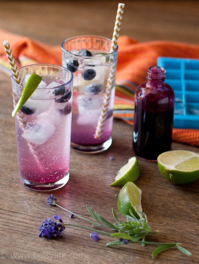 Blueberry Lavender Fizz Cocktails Beverage Bounty Cocktail