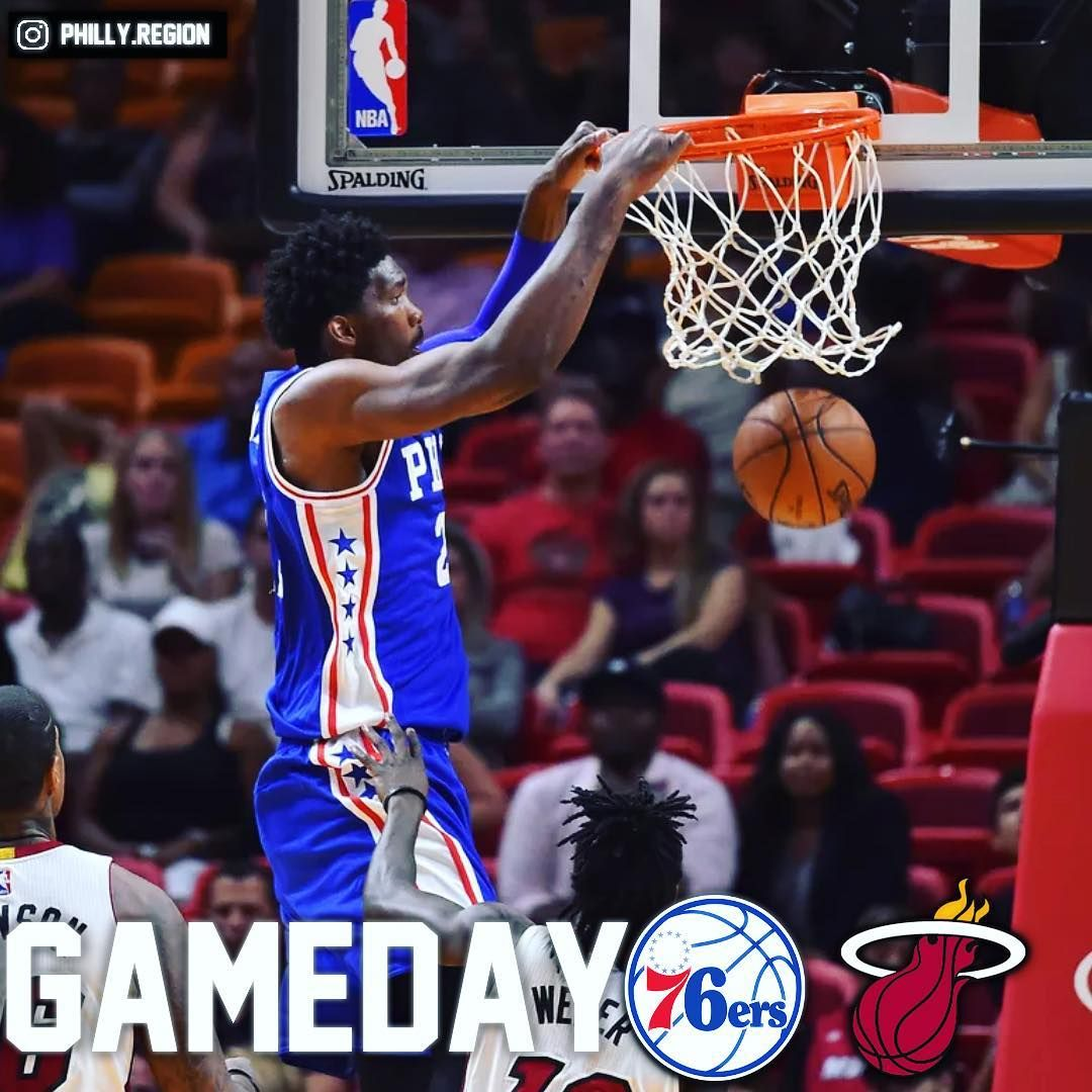 Its gameday! The Sixers will be looking to defeat the
