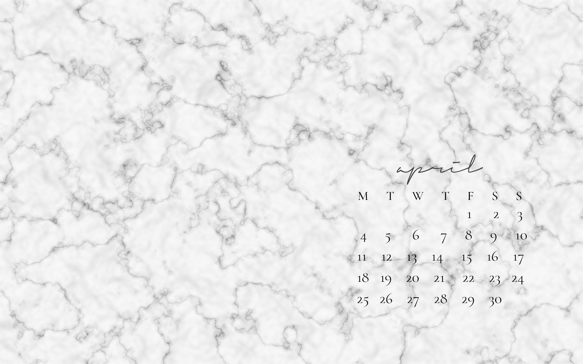 Free Desktop Wallpapers April Marble Desktop Wallpaper