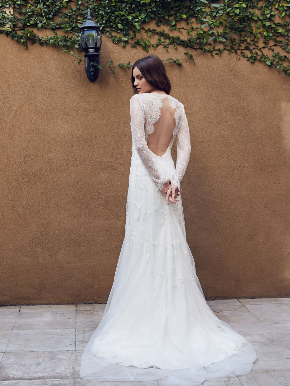 be77c57e771 Delicate beading and a dramatic Keyhole back make this romantic and  flattering dress a must try on from Floravere