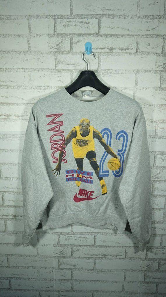 20f606d3a31a Vintage 90 s Nike Air Jordan Sweatshirt Size Large L   Nike Sweater   Jordan  Sweater   Nike Sweatshi