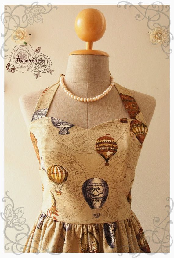 love journey dress balloon world map dress whimsical by amordress 5200