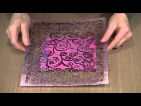 Continued Adventures With The Gel Press Plate by Joggles.com - YouTube