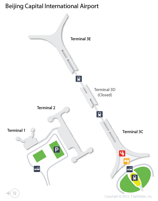 PEK Beijing Capital International Airport Terminal Map airports