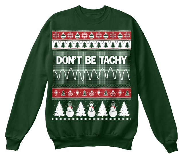 Don't Be Tachy Christmas Sweatshirt | Tacky sweater, 30th and Medical