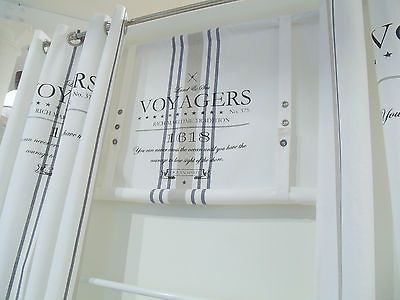 Details Zu LillaBelle OCEAN*Gardine Raffrollo 120 X100 Weiß Shabby Vintage  Landhaus*Curtain Images