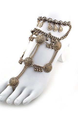 Cleo Foot Chain (1 Chain) - Gold