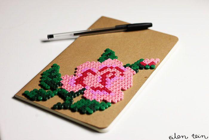 DIY Hama Beads Notebook Tutorial
