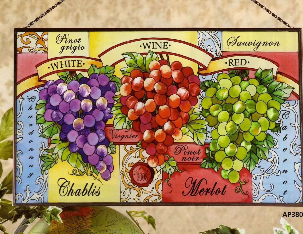 Tuscan Stained Glass Pattern Details About Wine Country Tuscan Countryside Vineyard Glass Panel Grape Decor Glass Panels