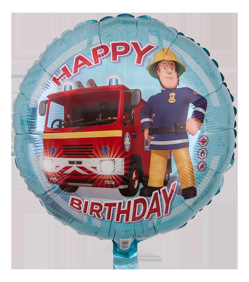 Feuerwehrmann Sam Ballon Mit Feuerrotem Geburtstagsgruss Happy