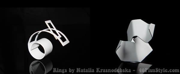 Sculptural contemporary jewelry by Natalia Krasnodebska