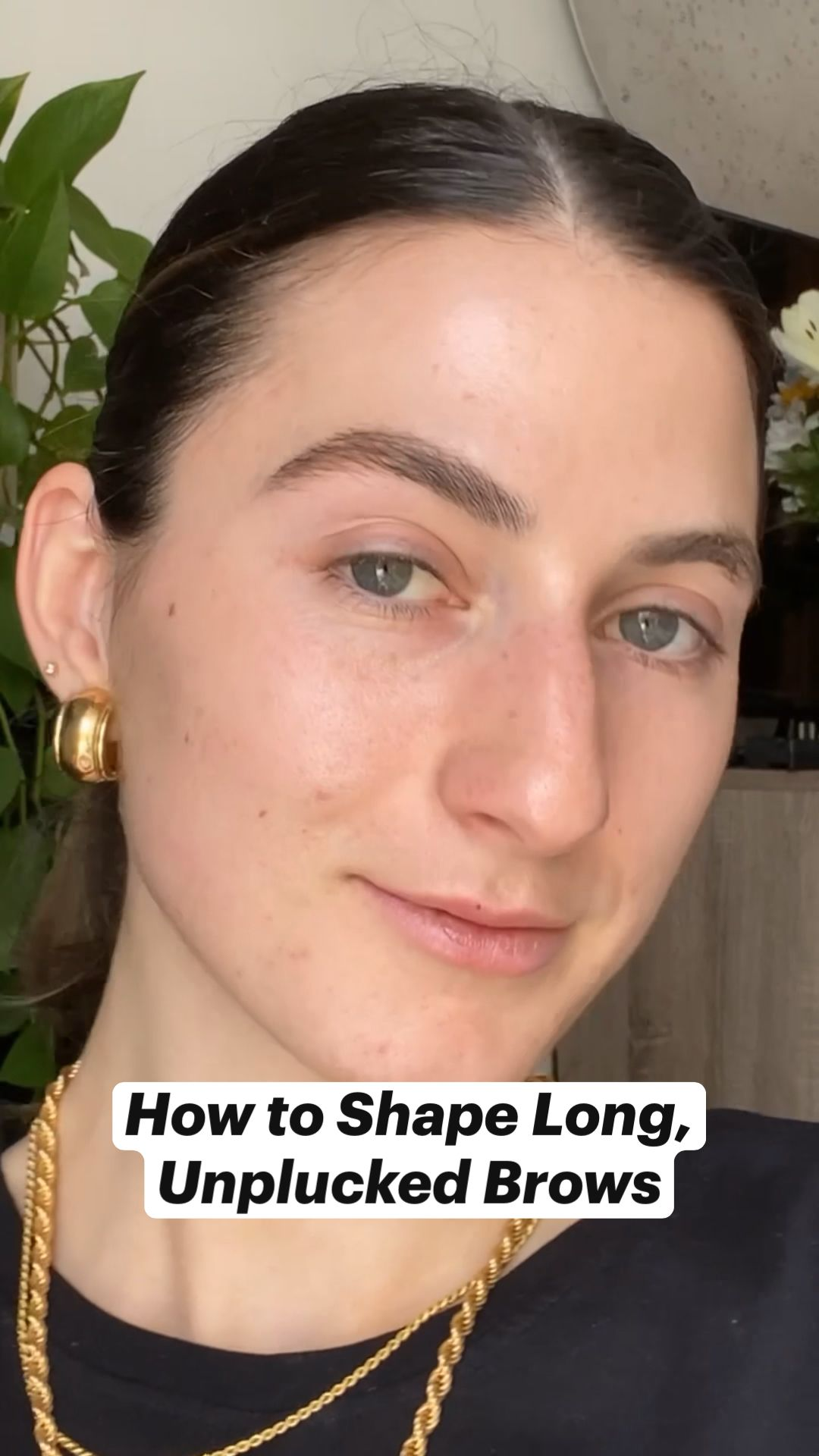 How to Shape Long, Unplucked Brows