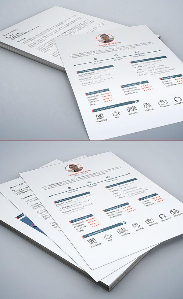 Modern Resume Template Psd Freepsdfiles Psdgraphics