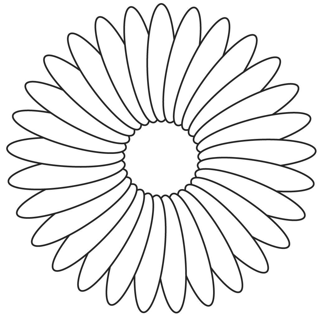 Image Detail For Free Flower Digital Stamp With Large Petals