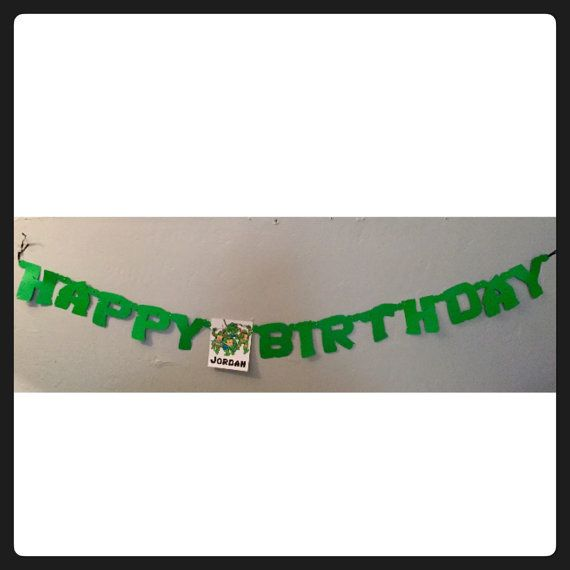 Ninja Turtle Birthday Banner TMNT party Happy by TimelessInvites