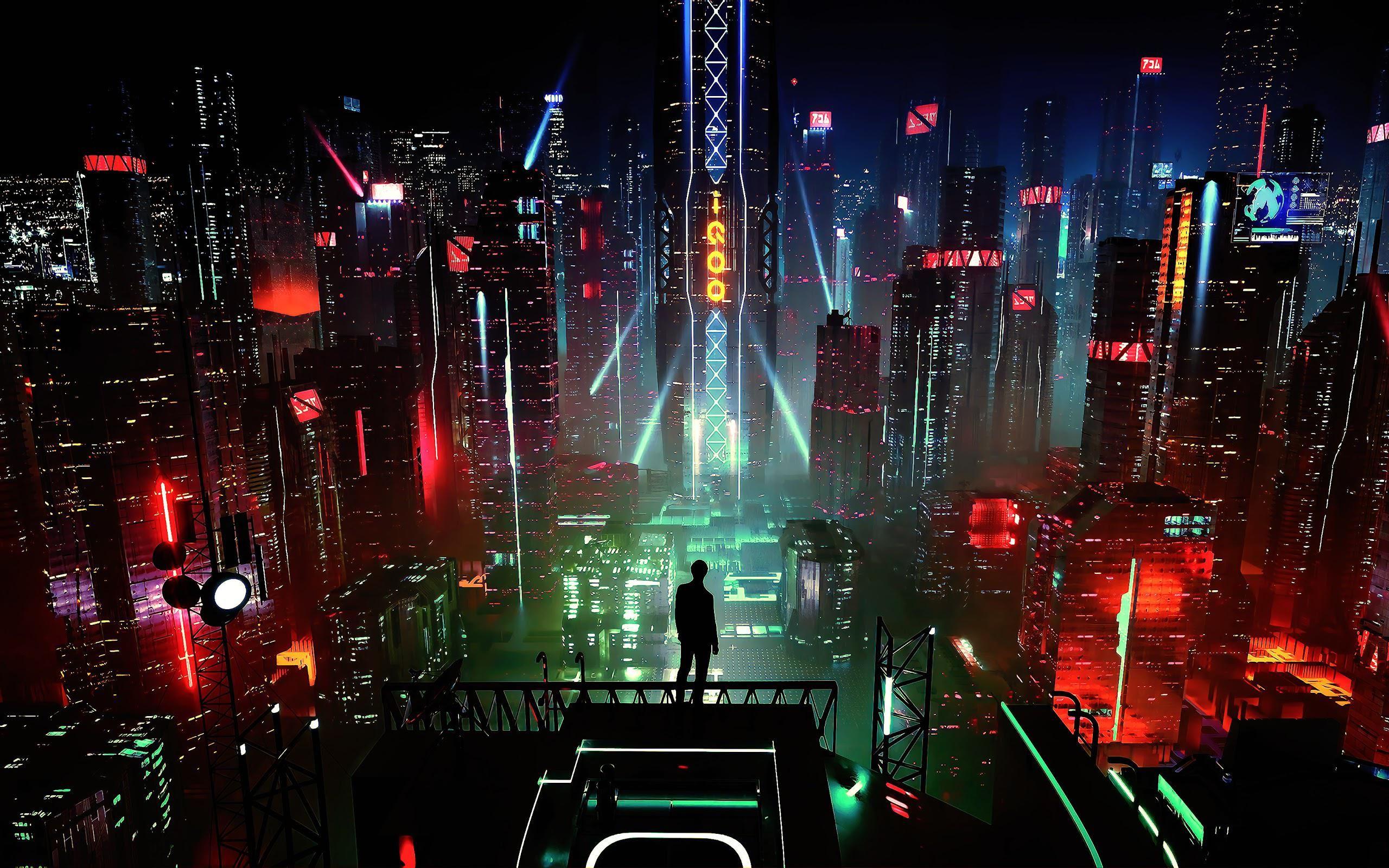 Night City Buildings 2560x1600 In 2020 Concept Art Wallpaper Hd Wallpaper