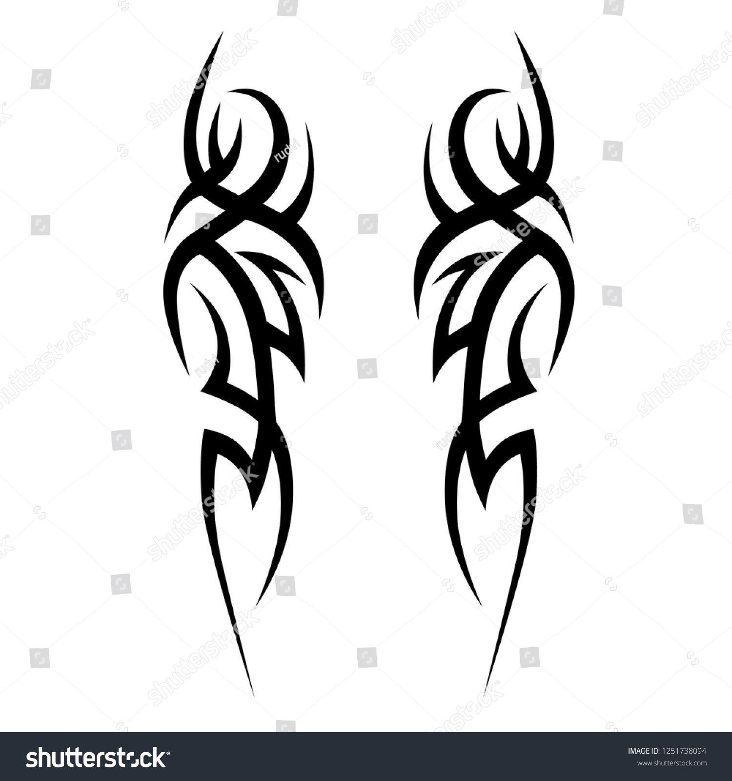 Tribal Tattoos Designs Tattoo Arm Sleeve Ideas Vector Sketch Illustration On White Backgrou Tribal Tattoos Tribal Art Tattoos Tribal Tattoo Designs