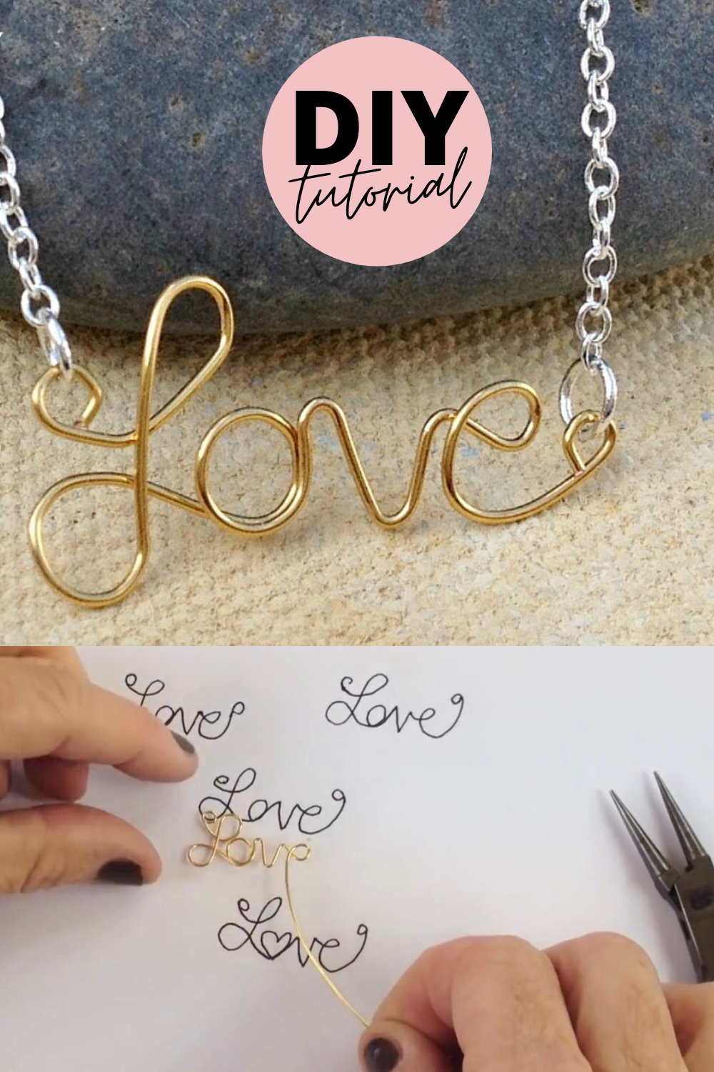 Photo of How to Make a Name Necklace with Gold Wire