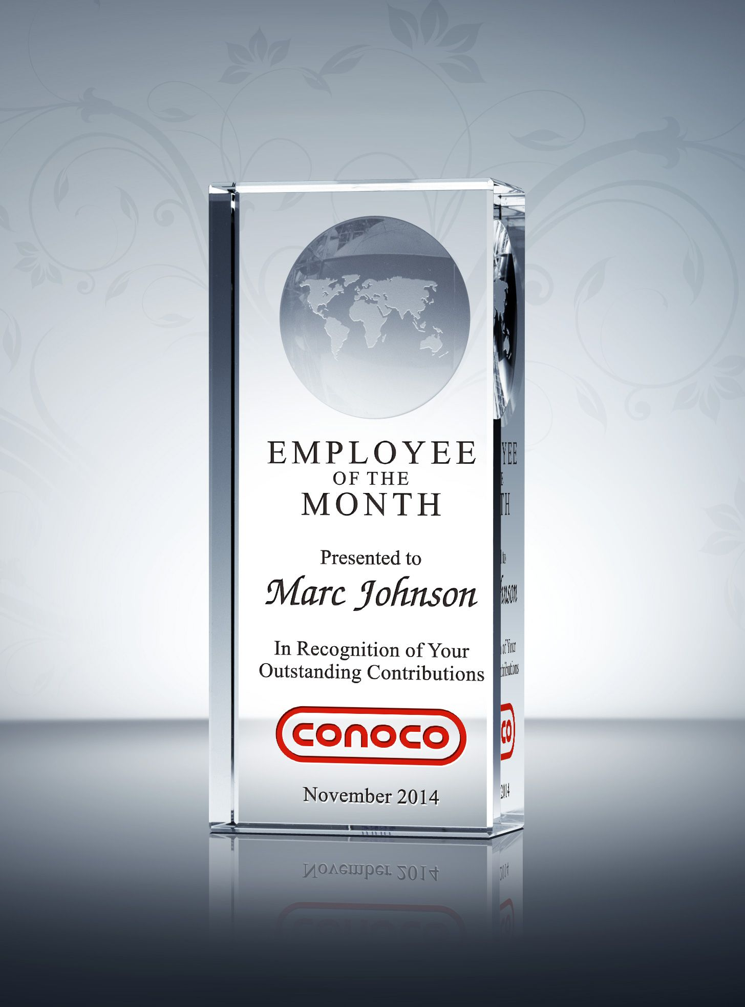 Employee of the Month/Year Award | Globe and Employee recognition