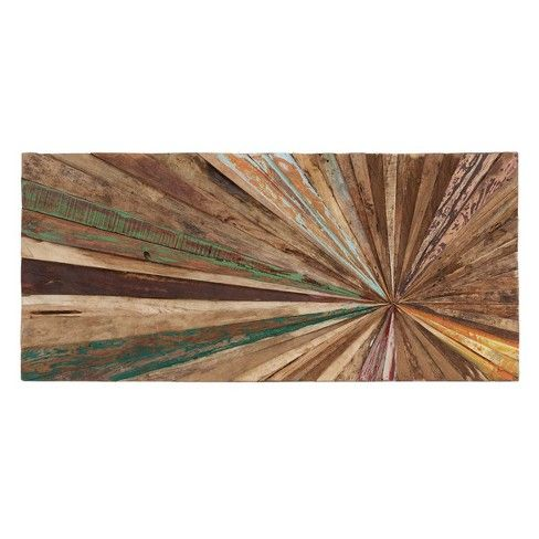 Wooden Decorative Wall Abstract 18 X 39 Olivia May