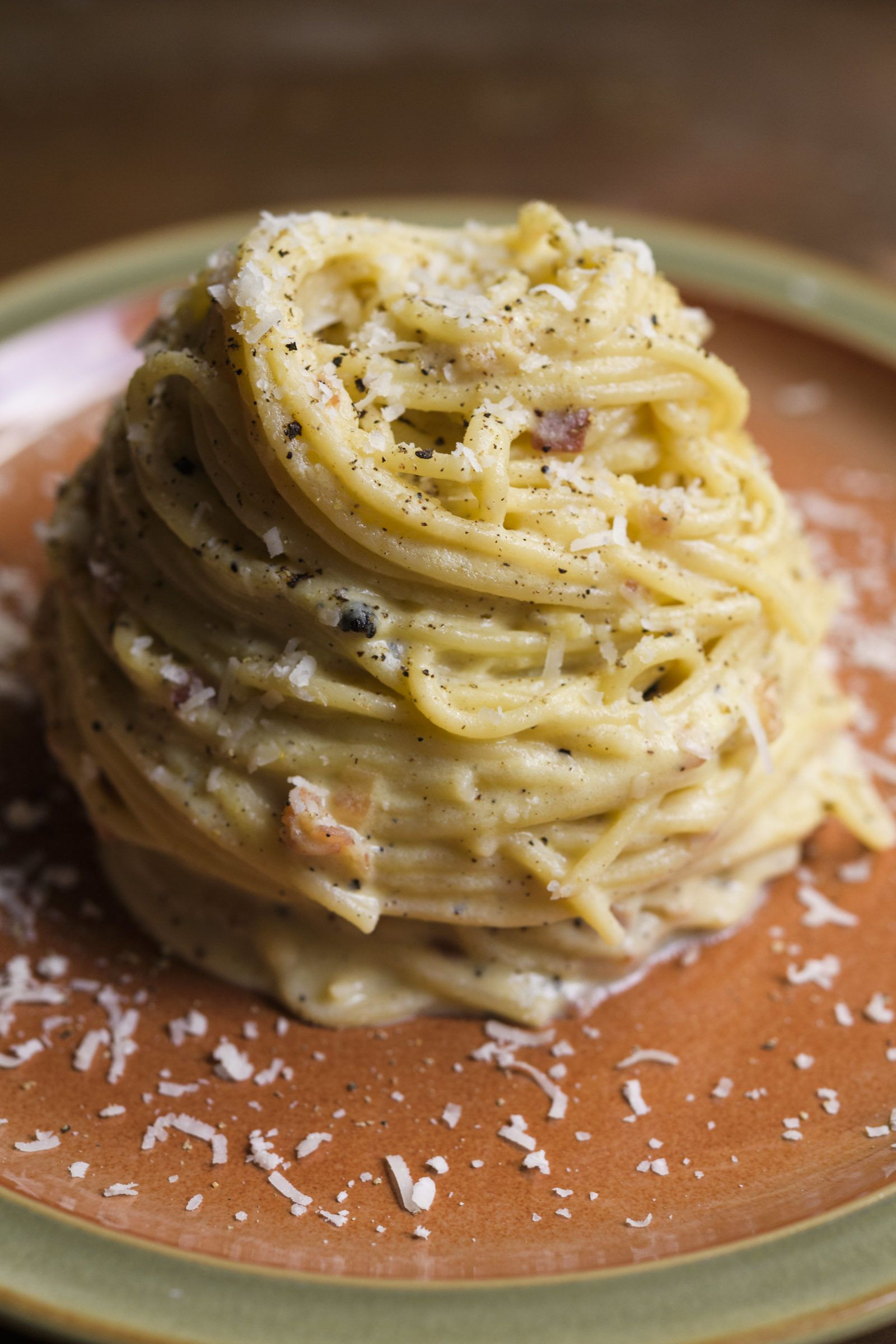 Roman Spaghetti Carbonara Recipe Spaghetti Carbonara Italian Street Food Roman Food