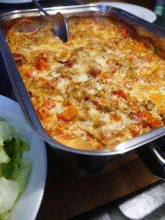 Ofenschnitzel mit Bolognese