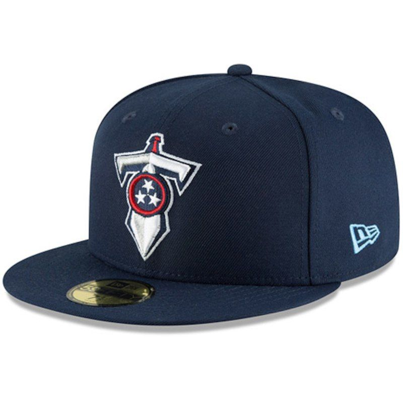 cheap for discount 90707 a2bbf Tennessee Titans New Era Alternate Logo Omaha 59FIFTY Fitted Hat - Navy