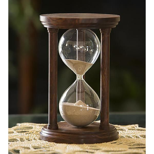4f8e8a08daa Solid Chechen Wood Hourglass With Smooth Spindles