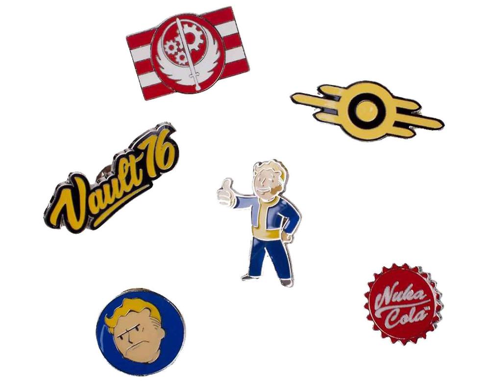 Fallout 76 Badge Pack Pins Vault Boy Nuka Cola New Official 6 Pack Badge Collectors Badge Metal Pins