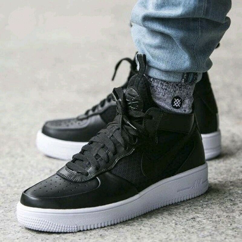 58eecb00fb665 Nike Air Force 1 UltraForce Mid Women's Size 10.5 New Black White ...