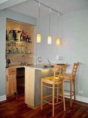 海外のおしゃれインテリア画像のまとめ 一人暮らし ワンルーム 狭い部屋を中心に Naver まとめ Small Kitchen Bar Kitchen Bar Design Bars For Home