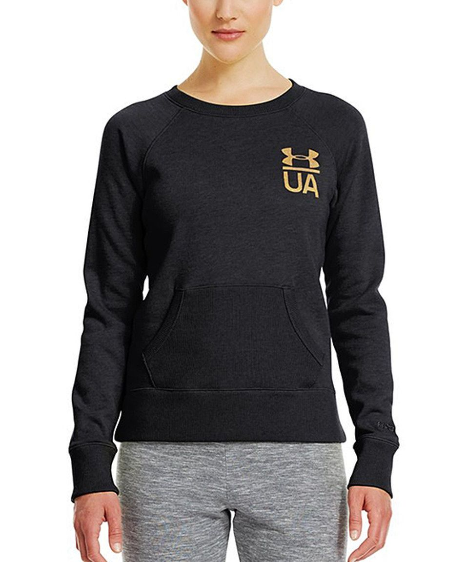Look at this #zulilyfind! Black Charged Cotton® Legacy Crewneck Top by Under Armour® #zulilyfinds