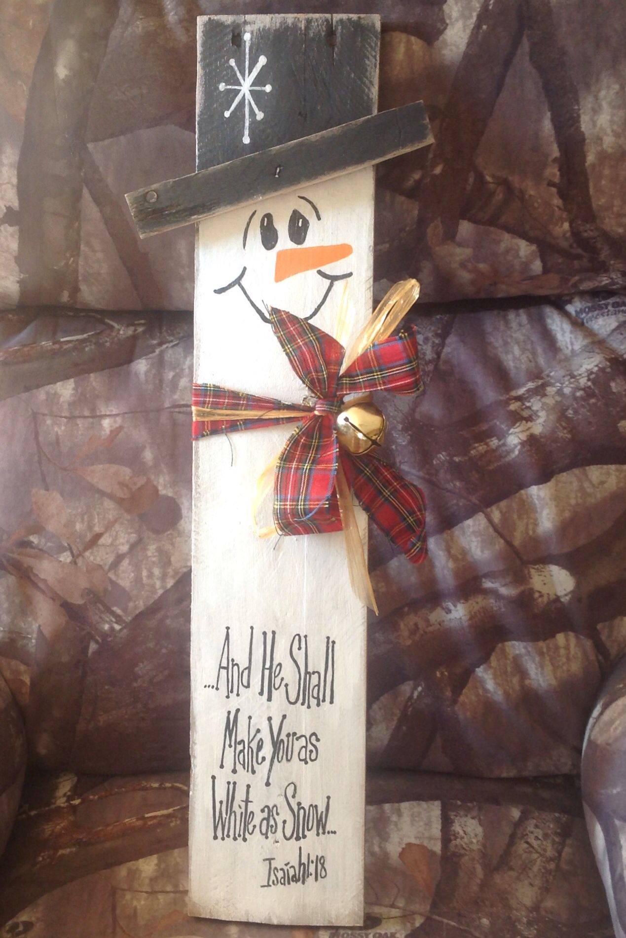 how to make pallet snowman