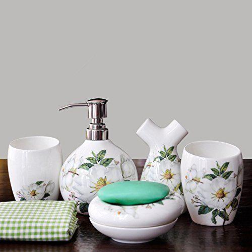 Bone China Ceramic Bathroom Products Mug Fivebathroom Set Creative