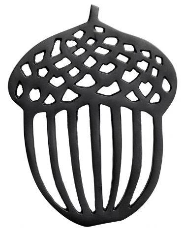 Metal acorn-shaped trivet
