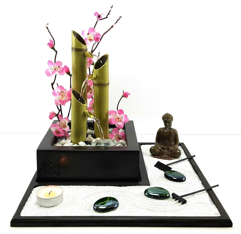 Bonseki Bonseki Fontana Zen Elegance Giardino Zen Da Tavolo Con