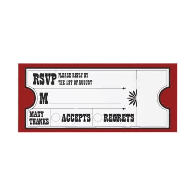 Theatre Ticket Rsvp Card Custom Invitation From HttpWwwZazzle