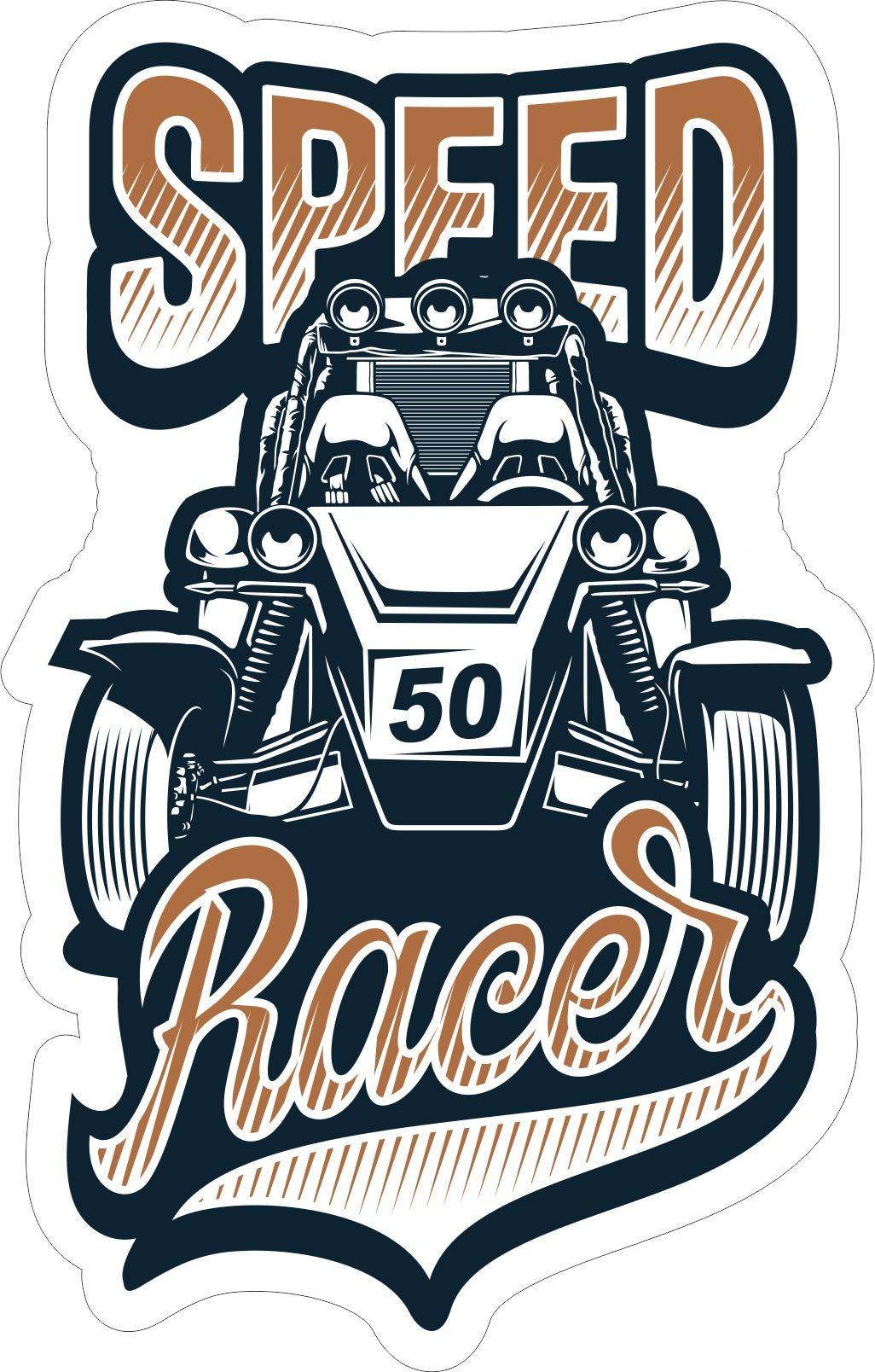 Speed Racer Sticker Free Vector cdr Download in 2019